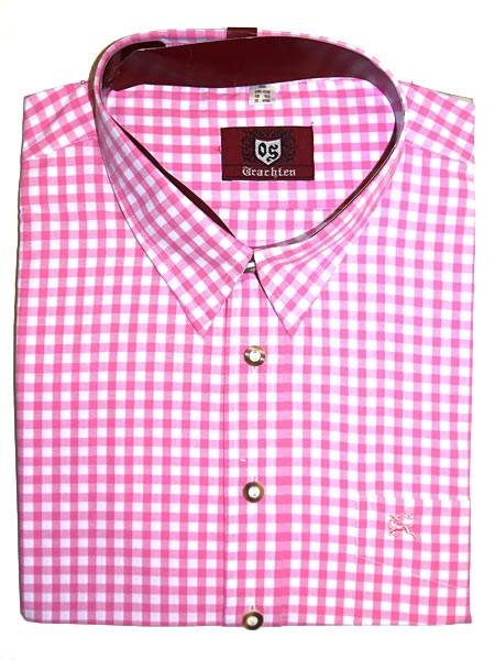 Trachtenhemd kariert rosa, OS-Trachten