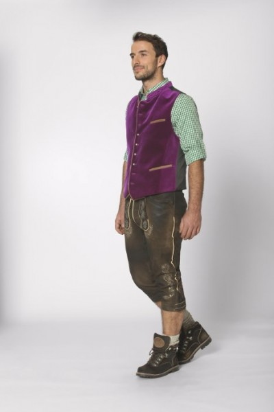 "Herren Trachtenweste ""Ricardo"" purple, Stockerpoint"