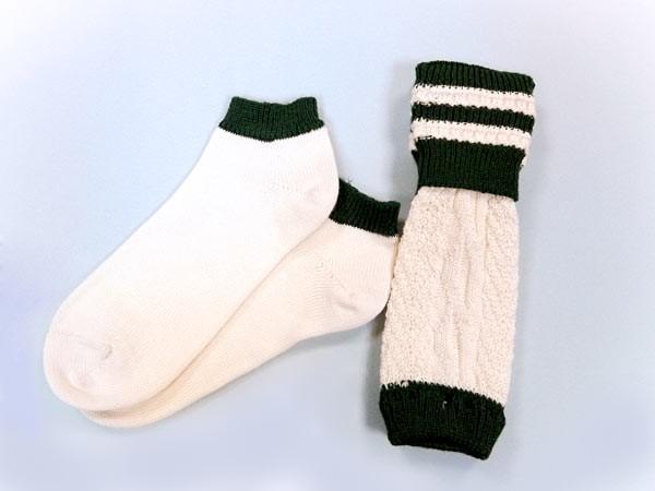 Set Loferl und Sneaker weiß-dunkelgrün
