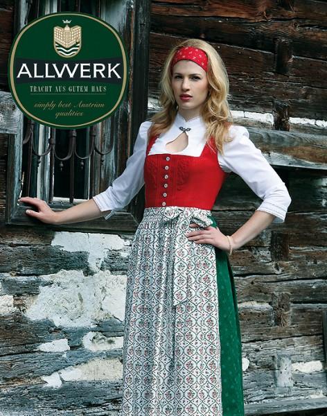 """Langes Dirndl in rot und grün """"Vroni"""", Allwerk, 80 cm"""