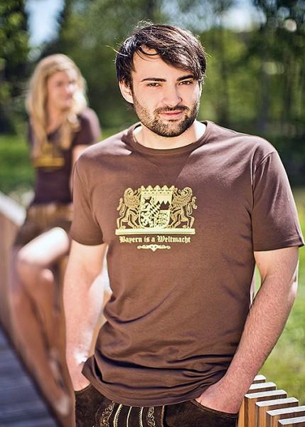 """Trachten T-Shirt """"Bayern is a Weltmacht"""""""