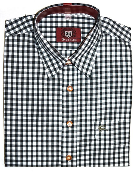 Trachtenhemd kariert schwarz, OS-Trachten