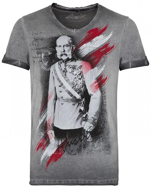 """Trachten Herren T-Shirt, """"Fausto"""" in grau, Hangowear"""