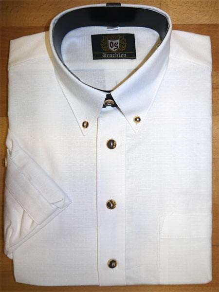 Trachtenhemd weiß-Button down OS-Trachten