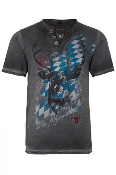 """Trachten Kinder-T-Shirt """"Ferdi Kids"""" grau oilwashed"""