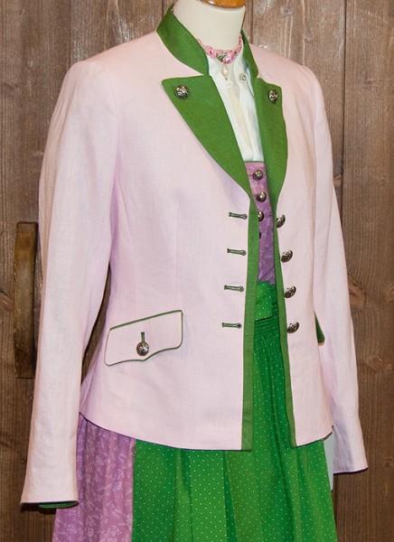 Rosa Janker mit grünem Stehkragen, Kaiser Franz Josef