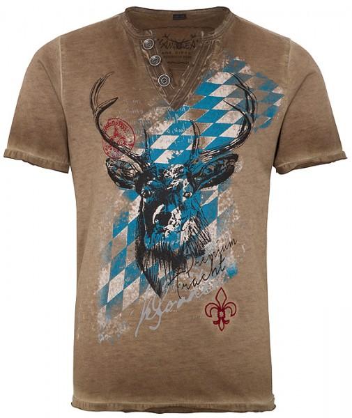 """Trachten Kinder-T-Shirt """"Ferdi Kids"""" braun oilwashed"""