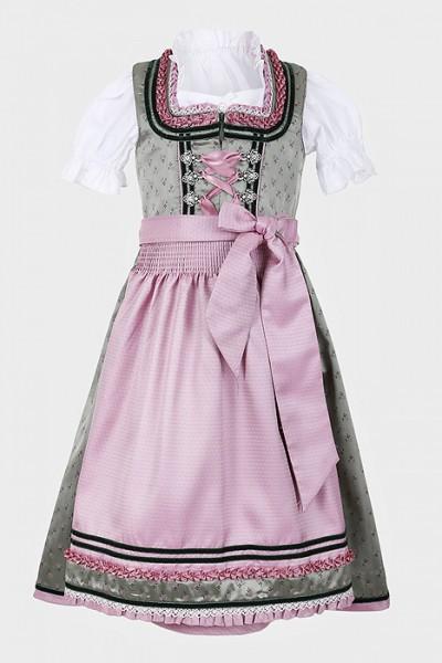 Kinderdirndl rosa-smaragdgrün, Krüger