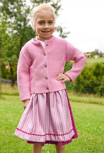 Kinderstrickjacke rosa, Isar Trachten