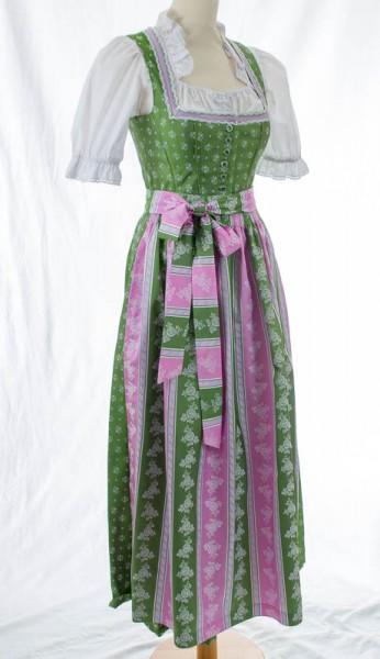 langes, grünes Dirndl, rosa-grüne Schürze, Tramontana