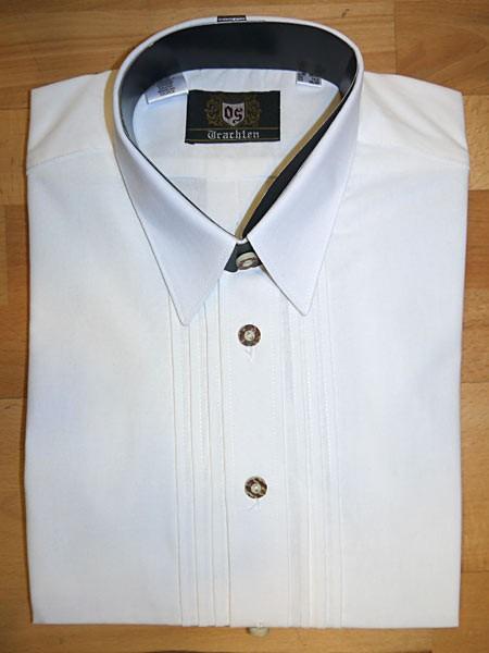 Herrenhemd weiß - Liegekragen,Schlupfform, OS-Trachten