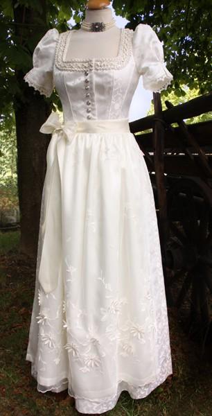 Hochzeitsdirndl creme, Tracht'n Bäda Eigenmarke