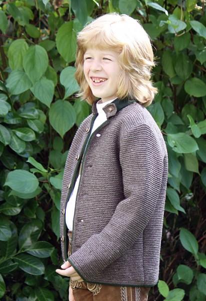 Strickjacke für Kinder mit Stehkragen in mode, Isar Trachten