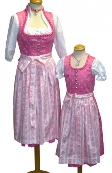 kräftig rosafarbiges Kinder-Waschdirndl vom Trachtn-Bäda