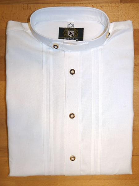 Herrenhemd weiß - Stehkragen, OS-Trachten