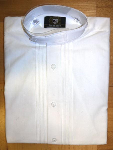 """Herrenhemd """"Pfoad"""" weiß - Stehkragen, OS-Trachten"""