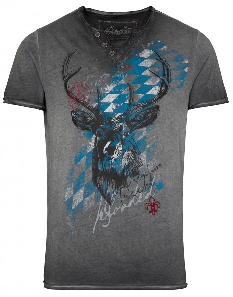 """Herren-T-Shirt """"Ferdi Bavaria"""" grau/braun, hangOwear"""