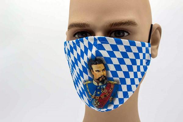 """Mund-Nasen-Schutz """"Goscherl"""" König Ludwig II."""