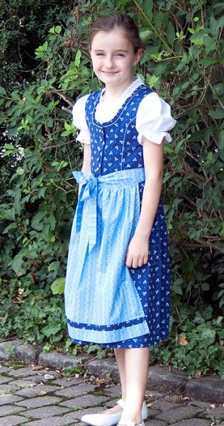 Wunderschönes blaues Kinderdirndl, Isar Trachten