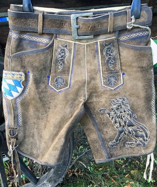 Bayerische Lederhosn mit bayrischen Wappen