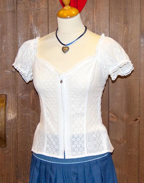 Spitzen-Shirt in weiß, Trachtn Bäda