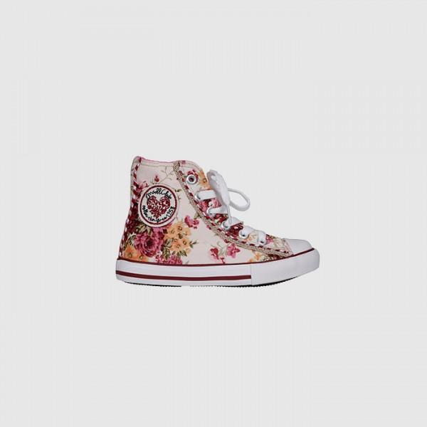 Hoher Sneaker für kleine Madl mit Blumenprint, Krüger