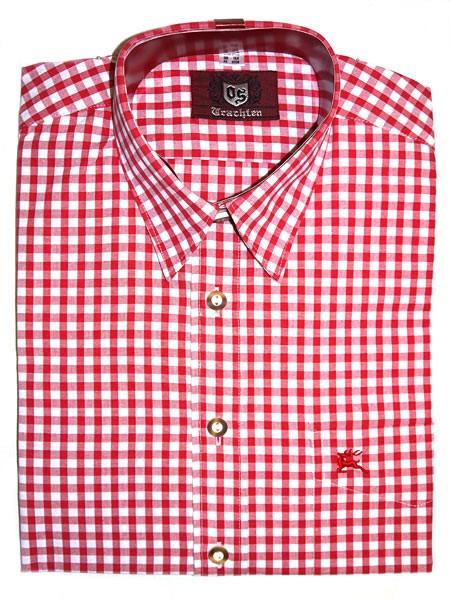 Trachtenhemd kariert rot, OS-Trachten