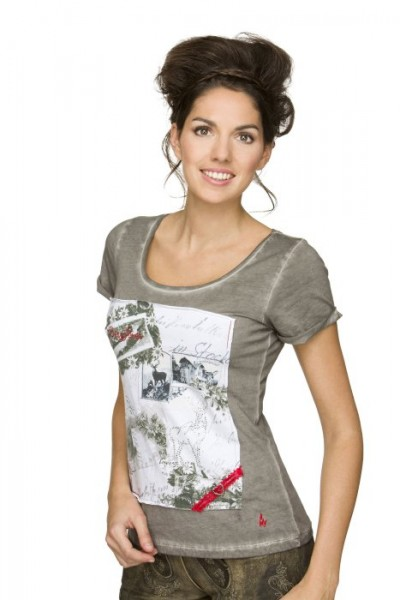 "T-Shirt ""Steffi"" in grau, Stockerpoint"